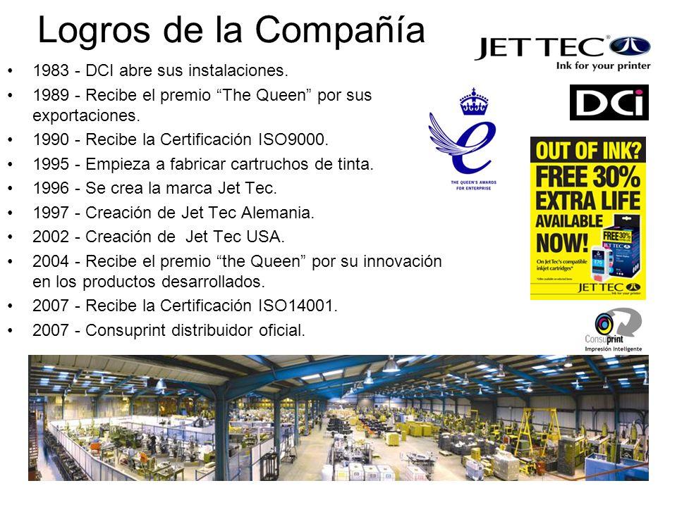DCI Ahora El mayor fabricante de cartuchos de tinta de Europa.