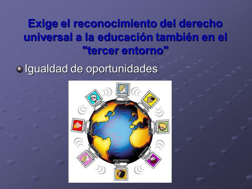 Exige el reconocimiento del derecho universal a la educación también en el