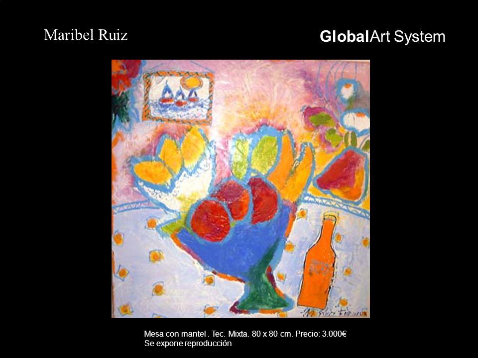 GlobalArt System Maribel Ruiz Mesa con mantel. Tec. Mixta. 80 x 80 cm. Precio: 3.000 Se expone reproducción