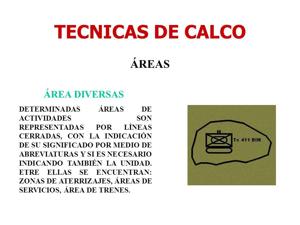 TECNICAS DE CALCO ÁREAS ÁREA DIVERSAS DETERMINADAS ÁREAS DE ACTIVIDADES SON REPRESENTADAS POR LÍNEAS CERRADAS, CON LA INDICACIÓN DE SU SIGNIFICADO POR