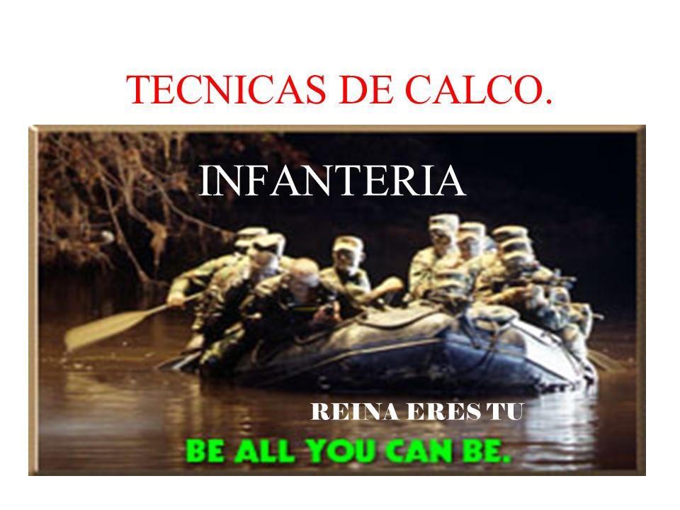 TECNICAS DE CALCO. INFANTERIA REINA ERES TU