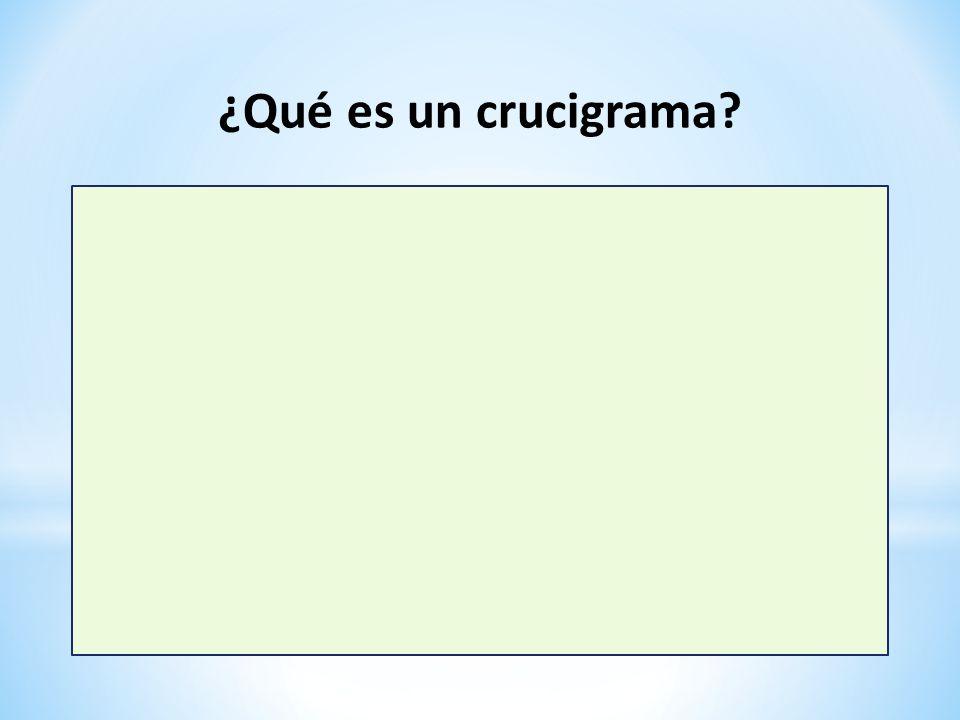 ¿Qué es un crucigrama?