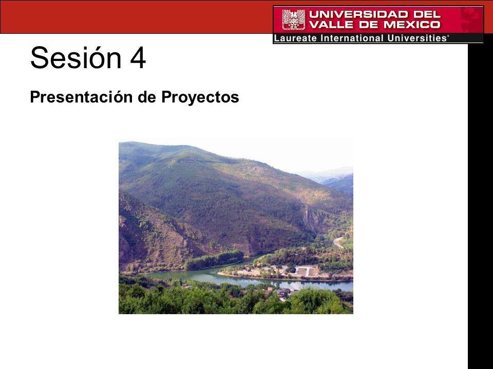 Sesión 4 Presentación de Proyectos