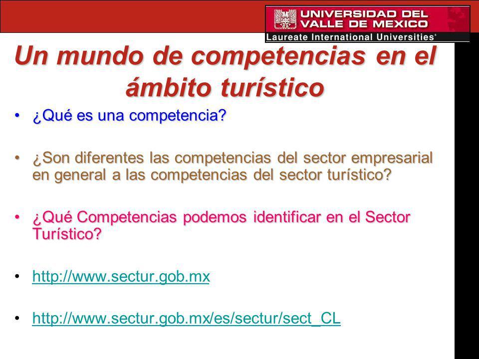 Un mundo de competencias en el ámbito turístico ¿Qué es una competencia?¿Qué es una competencia? ¿Son diferentes las competencias del sector empresari