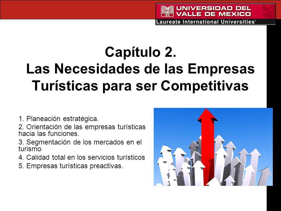 Capítulo 2. Las Necesidades de las Empresas Turísticas para ser Competitivas 1. Planeación estratégica. 2. Orientación de las empresas turísticas haci