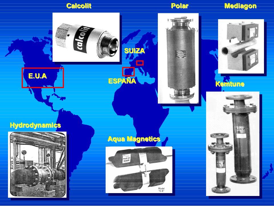 E.U.A Aqua Magnetics Aqua Magnetics Kemtune Kemtune Hydrodynamics Mediagon ESPAÑA SUIZA Polar Calcolit