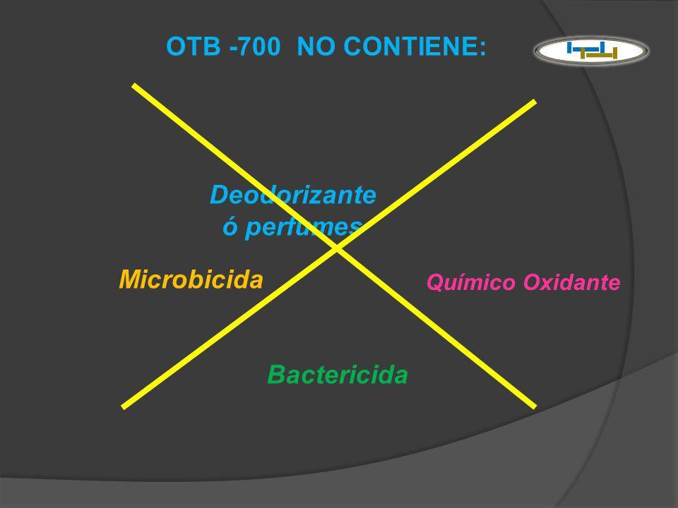 Deodorizante ó perfumes Microbicida Bactericida Químico Oxidante OTB -700 NO CONTIENE: