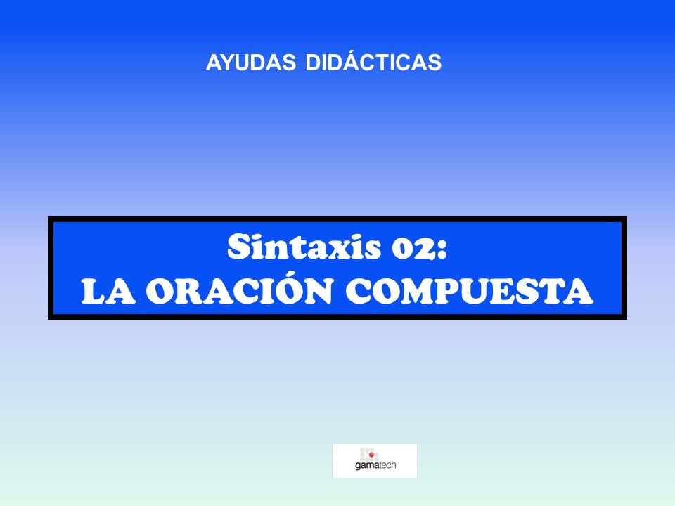 Sintaxis 02: LA ORACIÓN COMPUESTA AYUDAS DIDÁCTICAS