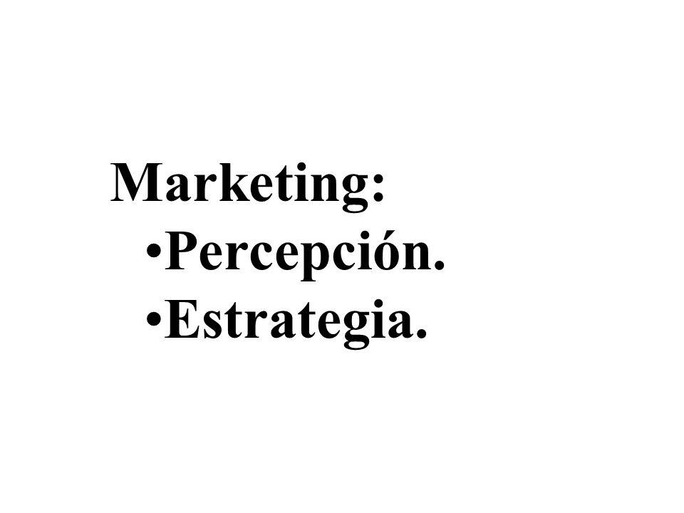 Marketing: Percepción.Percepción. Estrategia.Estrategia.