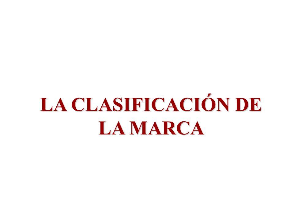 LA CLASIFICACIÓN DE LA MARCA