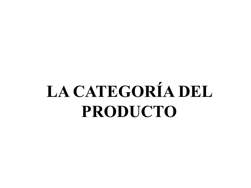 LA CATEGORÍA DEL PRODUCTO