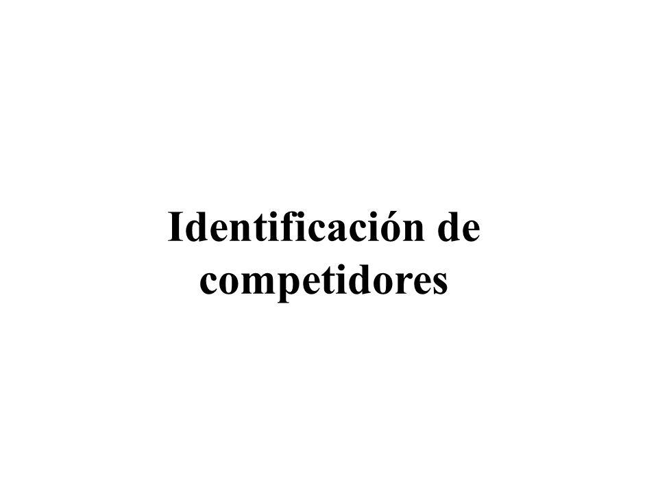 Identificación de Competidores Cualquiera que produzca un sustituto.