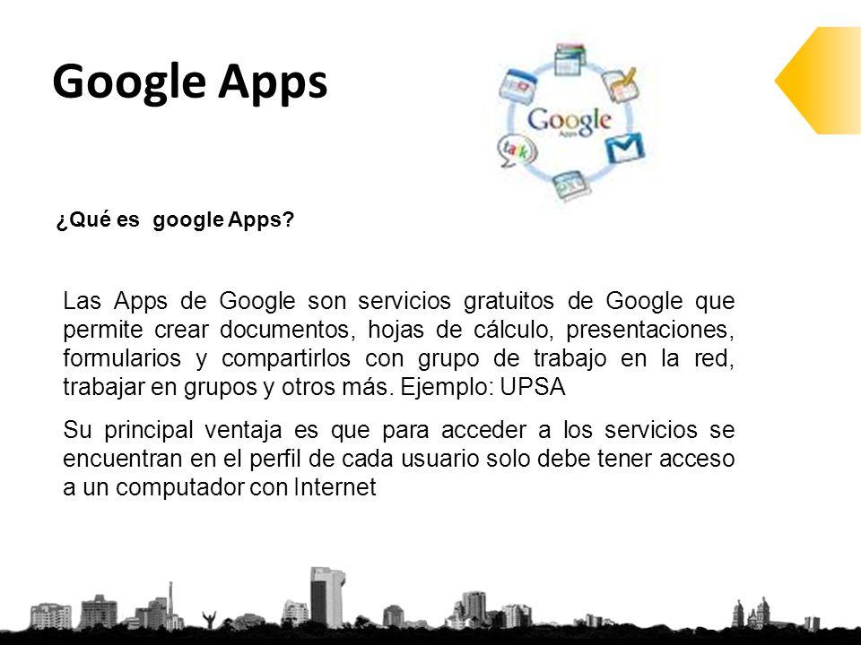 ¿Qué es google Apps.