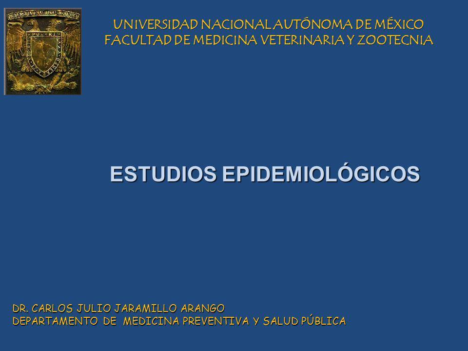 UNIVERSIDAD NACIONAL AUTÓNOMA DE MÉXICO FACULTAD DE MEDICINA VETERINARIA Y ZOOTECNIA DR. CARLOS JULIO JARAMILLO ARANGO DEPARTAMENTO DE MEDICINA PREVEN
