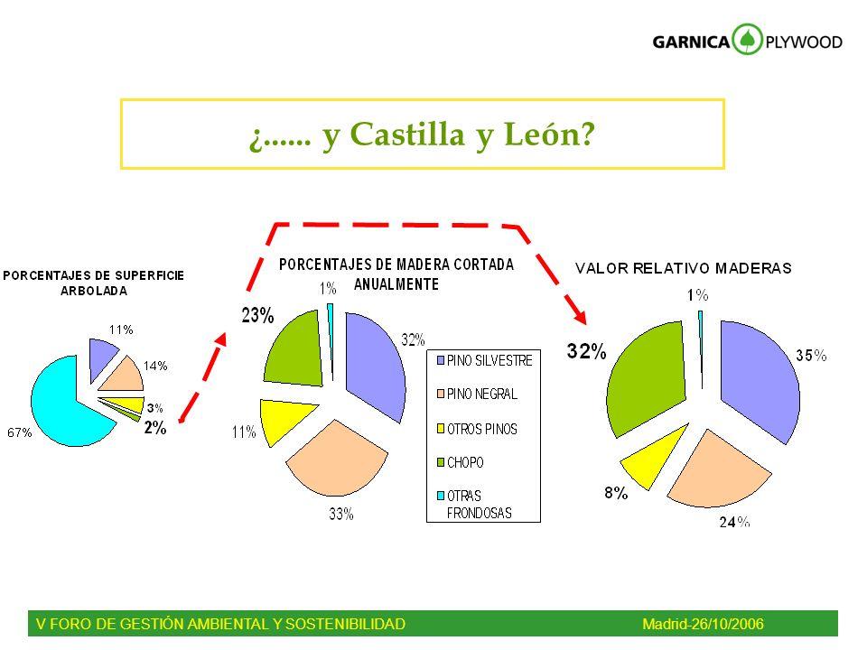 ¿...... y Castilla y León? V FORO DE GESTIÓN AMBIENTAL Y SOSTENIBILIDADMadrid-26/10/2006
