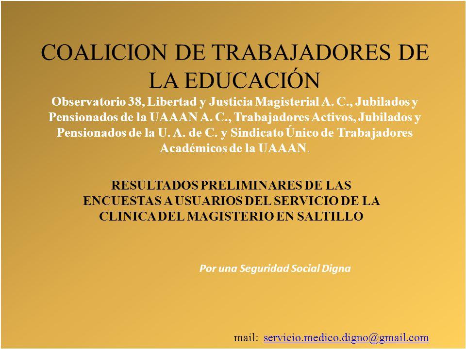 COALICION DE TRABAJADORES DE LA EDUCACIÓN Observatorio 38, Libertad y Justicia Magisterial A.