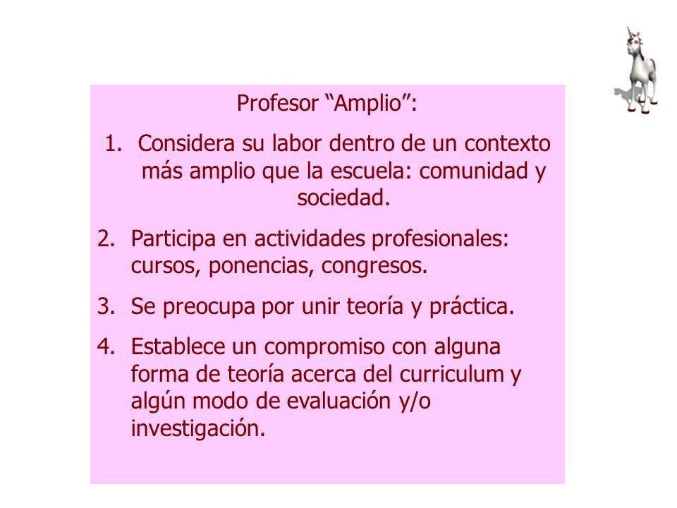 Profesor alienado: Reproduce, lee y aplica materiales elaborados por los demás, no participa en el desarrollo del curriculum