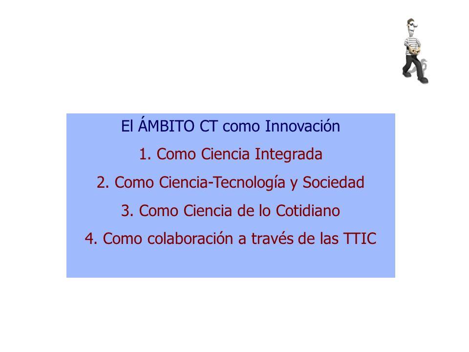 Currículo CT por competencias Filas; campos de actuación: 1.