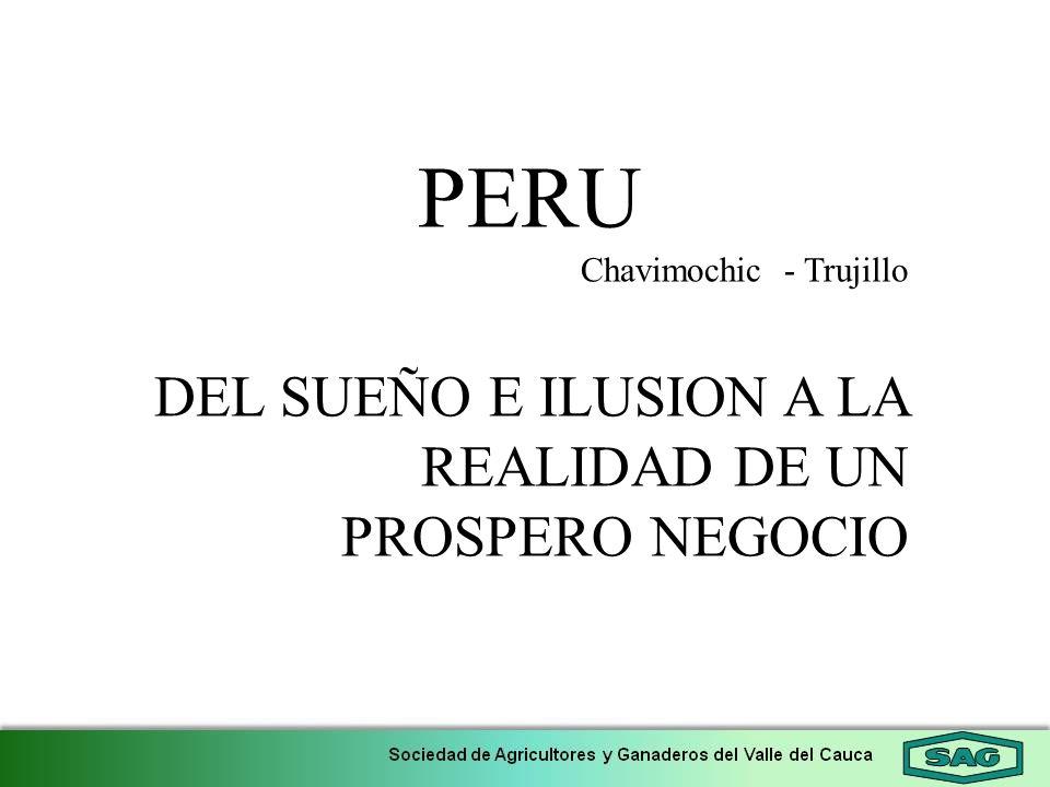 PERU Chavimochic - Trujillo DEL SUEÑO E ILUSION A LA REALIDAD DE UN PROSPERO NEGOCIO