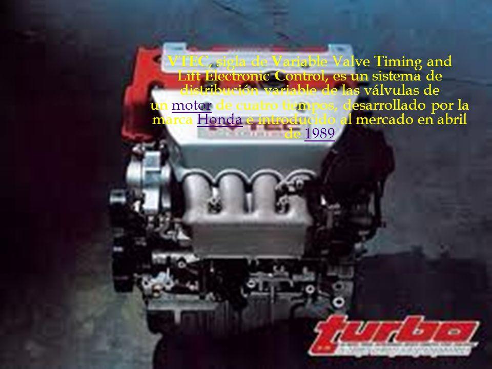VTEC, sigla de V ariable Valve T iming and Lift E lectronic C ontrol, es un sistema de distribución variable de las válvulas de un motor de cuatro tiempos, desarrollado por la marca Honda e introducido al mercado en abril de 1989motorHonda1989