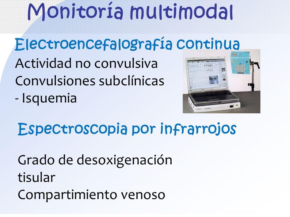 Espectroscopia por infrarrojos Actividad no convulsiva Convulsiones subclínicas - Isquemia Monitoría multimodal Electroencefalografía continua Grado d
