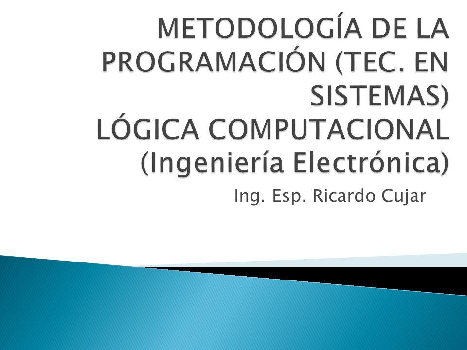 Ing. Esp. Ricardo Cujar