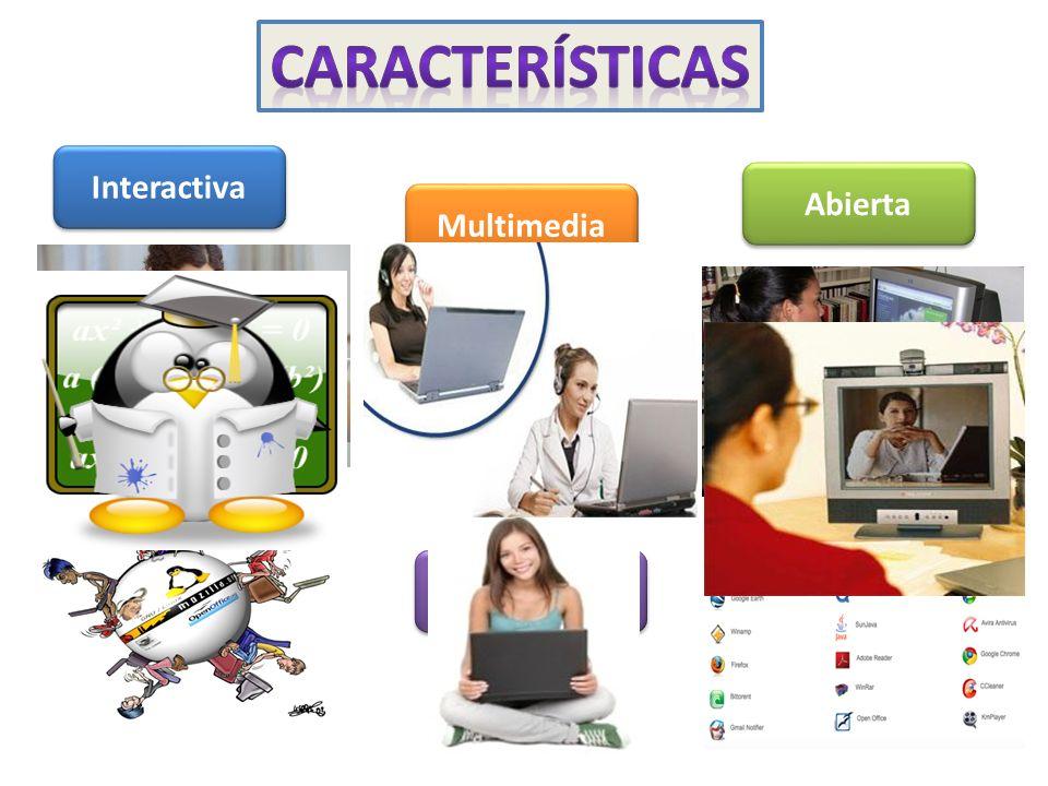 Interactiva Multimedia Abierta Accesible Síncrona y asíncrona On-line Distribuida Colaborativa Seguimiento
