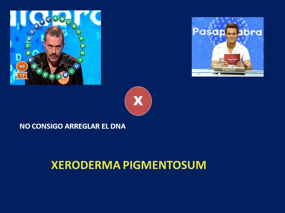 X NO CONSIGO ARREGLAR EL DNA XERODERMA PIGMENTOSUM