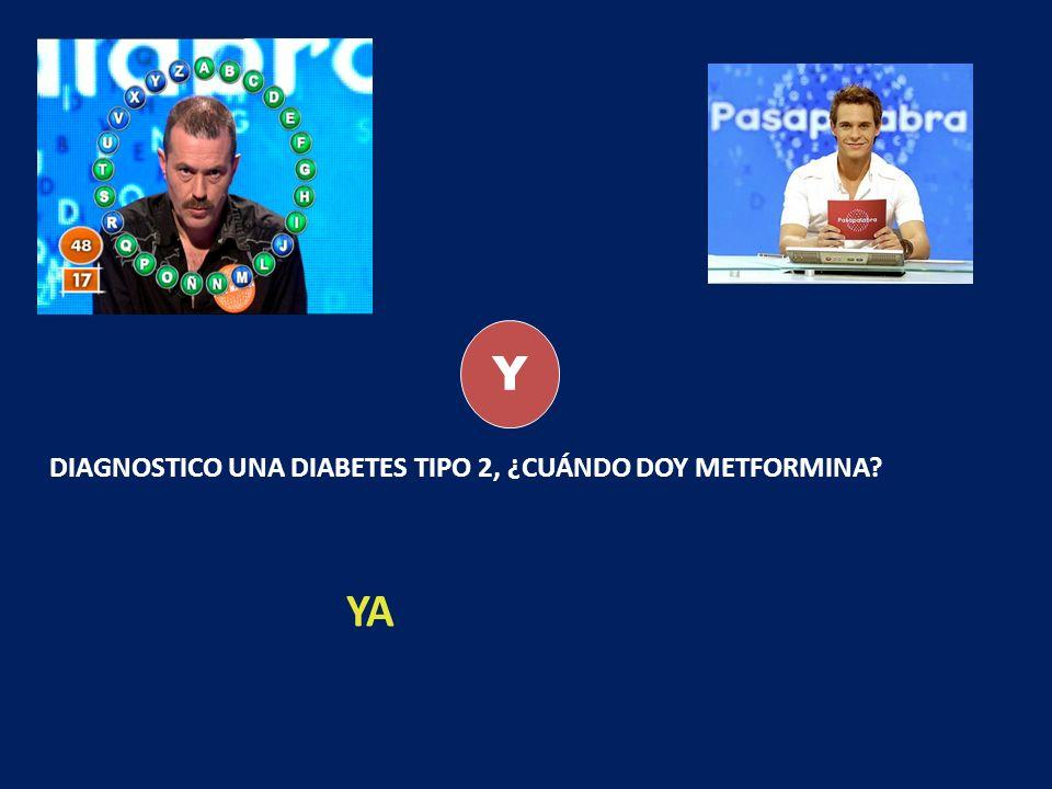 Y DIAGNOSTICO UNA DIABETES TIPO 2, ¿CUÁNDO DOY METFORMINA? YA