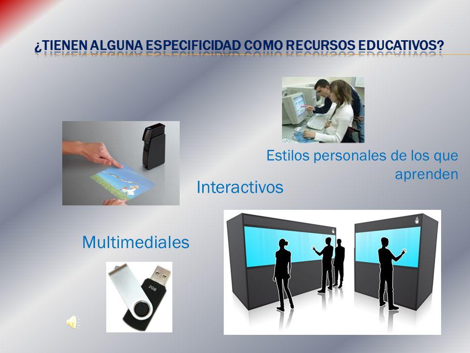 Interactivos Multimediales Estilos personales de los que aprenden