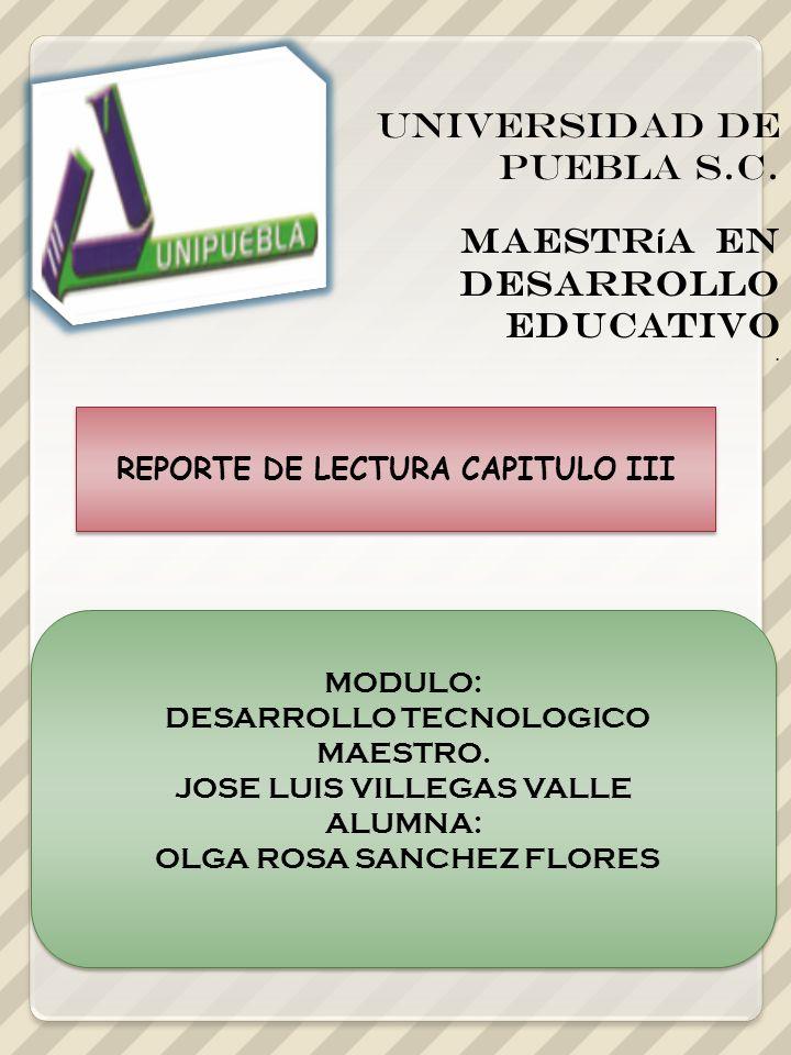 UNIVERSIDAD DE PUEBLA s.c. Maestr í a en Desarrollo Educativo.