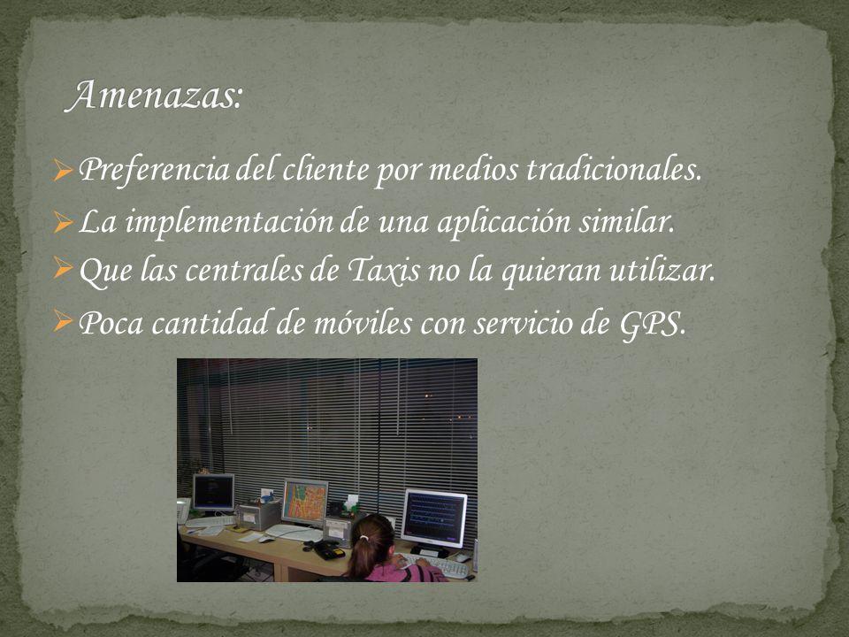 Preferencia del cliente por medios tradicionales. La implementación de una aplicación similar.