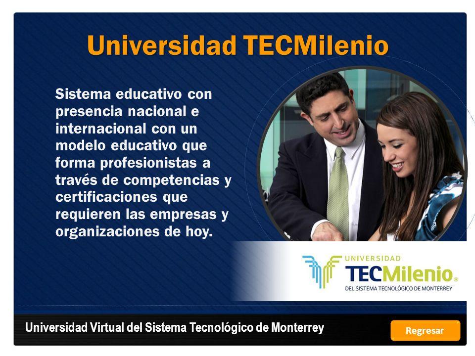 Universidad TECMilenio Sistema educativo con presencia nacional e internacional con un modelo educativo que forma profesionistas a través de competenc