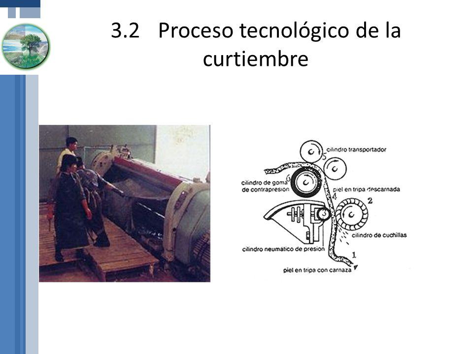 3.2Proceso tecnológico de la curtiembre