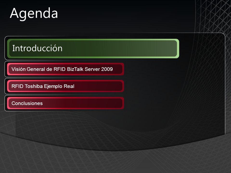 Introducción Agenda Visión General de RFID BizTalk Server 2009 RFID Toshiba Ejemplo Real Conclusiones