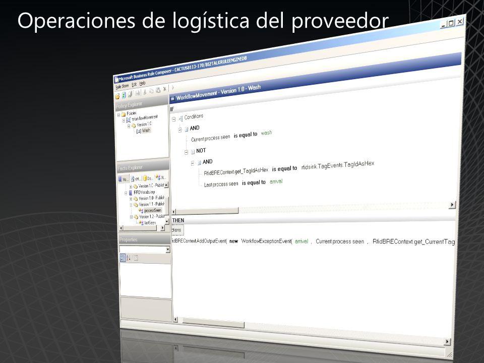 Operaciones de logística del proveedor