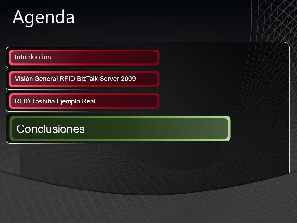 Agenda Visión General RFID BizTalk Server 2009 Introducción Conclusiones RFID Toshiba Ejemplo Real