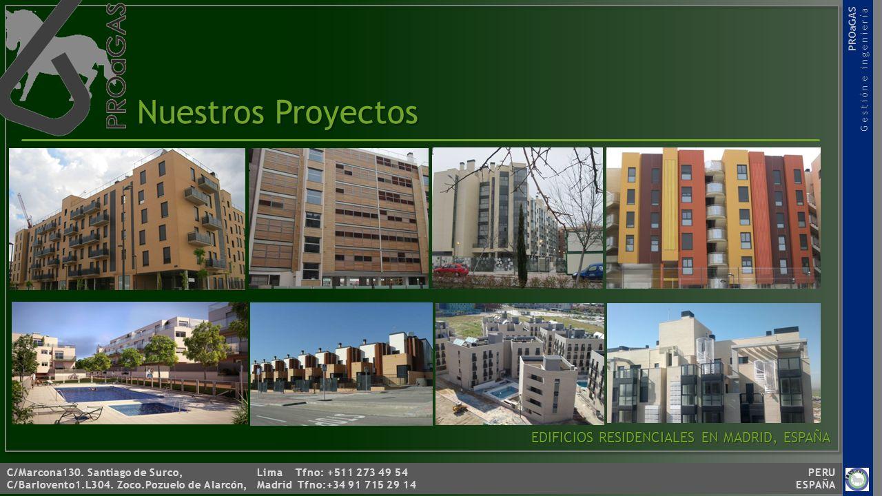 C/Marcona130. Santiago de Surco, Lima Tfno: +511 273 49 54 PERU C/Barlovento1.L304. Zoco.Pozuelo de Alarcón, Madrid Tfno:+34 91 715 29 14 ESPAÑA PROaG