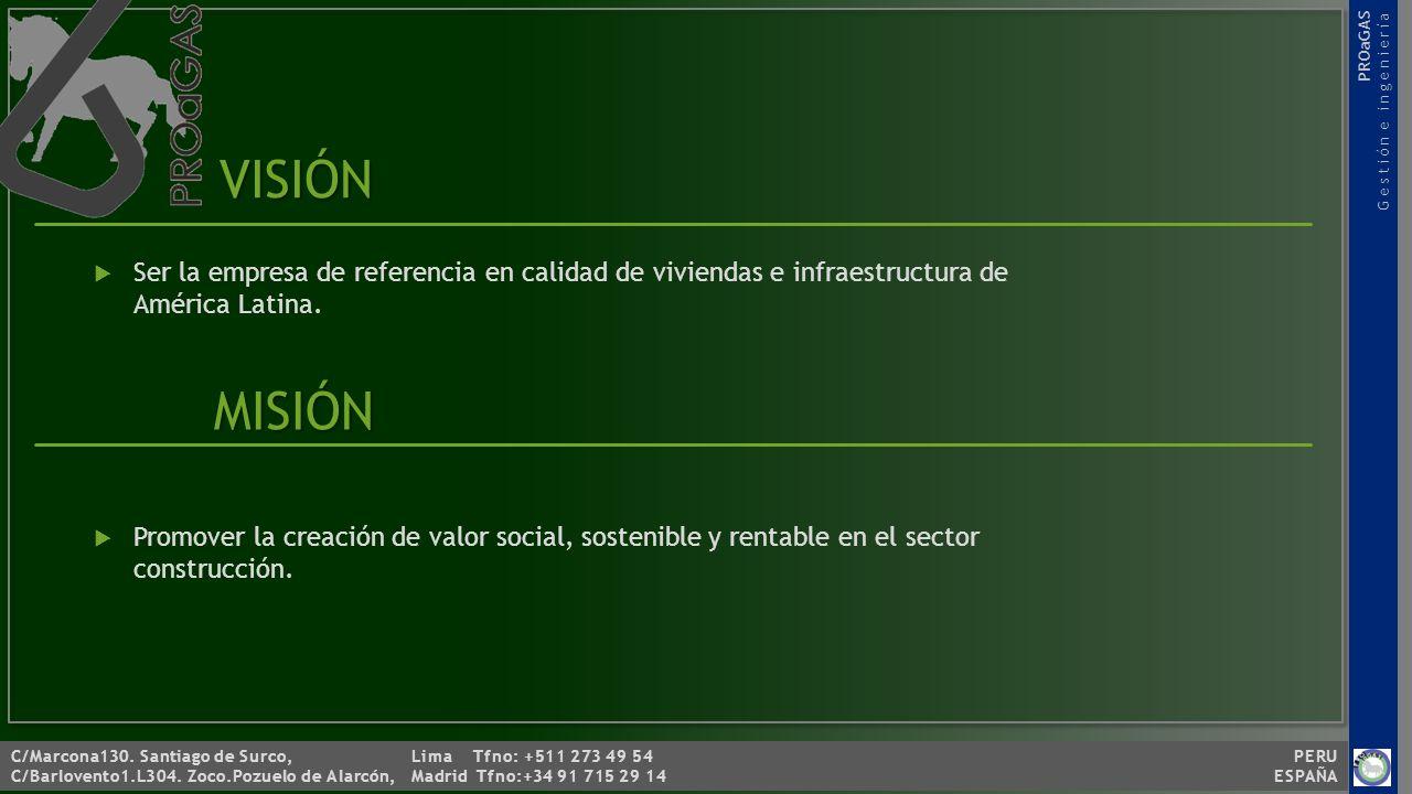 C/Marcona130.Santiago de Surco, Lima Tfno: +511 273 49 54 PERU C/Barlovento1.L304.