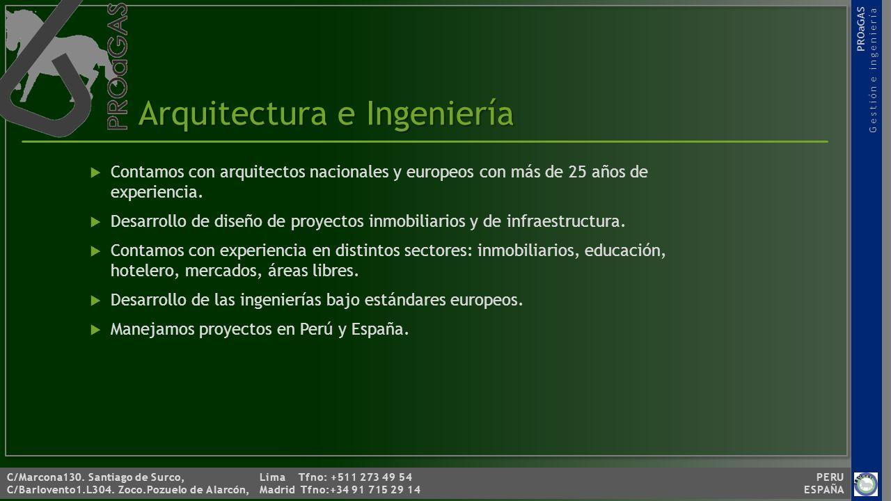 PROaGAS Gestión e ingeniería C/Marcona130.