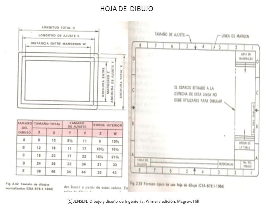 HOJA DE DIBUJO [1] JENSEN, Dibujo y diseño de Ingeniería, Primera edición, Mcgraw Hill