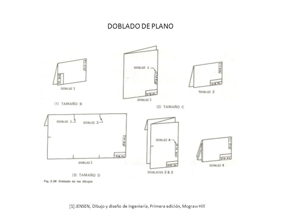DOBLADO DE PLANO [1] JENSEN, Dibujo y diseño de Ingeniería, Primera edición, Mcgraw Hill