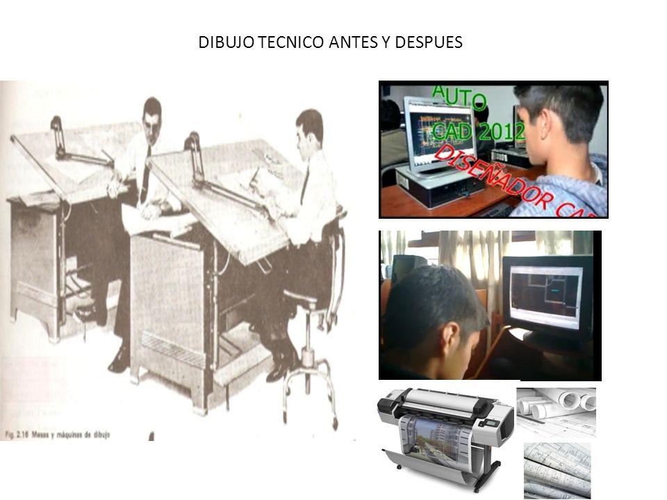 DIBUJO TECNICO ANTES Y DESPUES