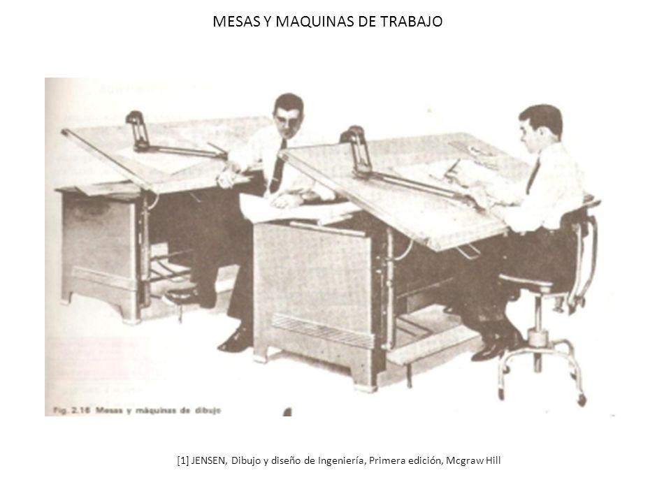 MESAS Y MAQUINAS DE TRABAJO [1] JENSEN, Dibujo y diseño de Ingeniería, Primera edición, Mcgraw Hill