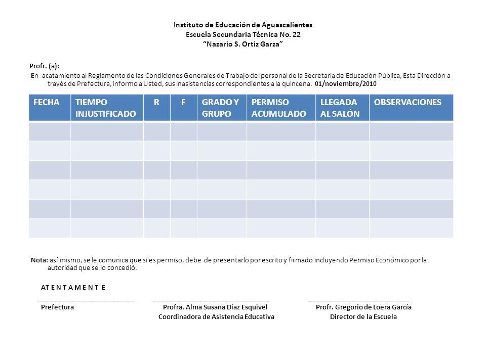 Instituto de Educación de Aguascalientes Escuela Secundaria Técnica No.