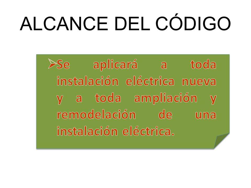 ALCANCE DEL CÓDIGO