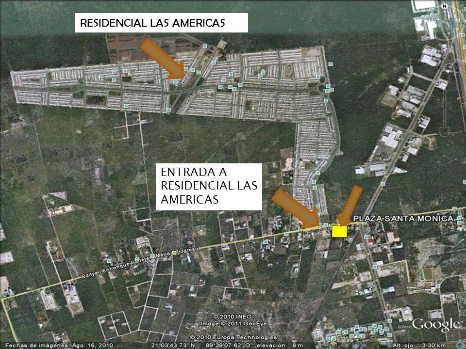 CARRETERA DZITYA RESIDENCIAL LAS AMERICAS CARRETERA A PROGRESO PARQUE INDUSTRIAL PERIFERICO