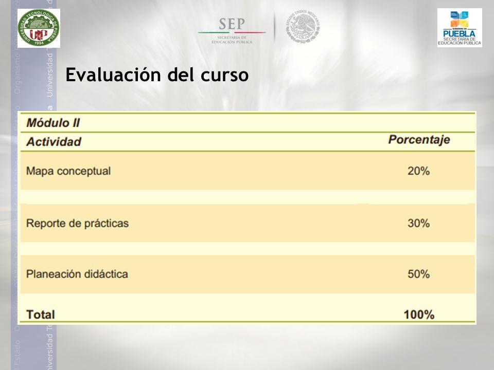 Evaluación del curso