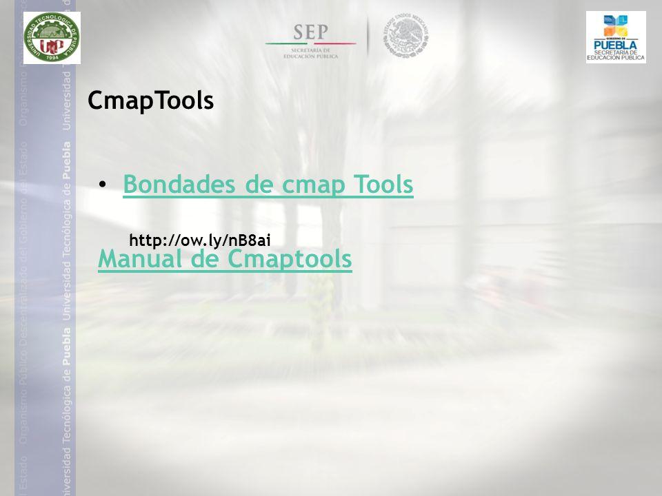 Bondades de cmap Tools Manual de Cmaptools CmapTools http://ow.ly/nB8ai