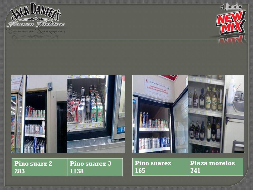 Pino suarez 165 Plaza morelos 741 Pino suarz 2 283 Pino suarez 3 1138